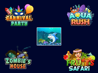 Slots Machine Theme Logo