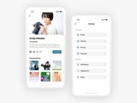 Photo Sharing Platform Settings UI Design