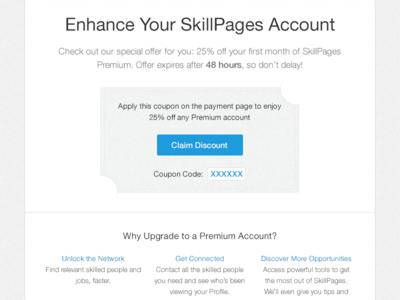 Coupon Voucher discount coupon voucher skillpages email marketing