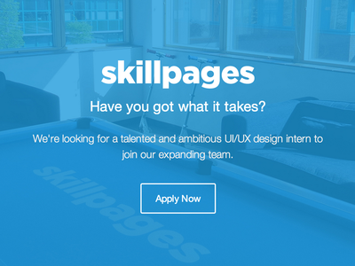 SkillPages is looking for a design intern ui ux intern