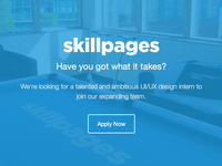 SkillPages is looking for a design intern