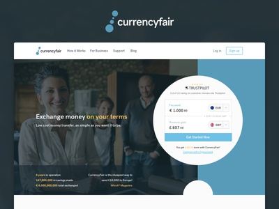  Meet the new CurrencyFair product design launch system redesign identity brand