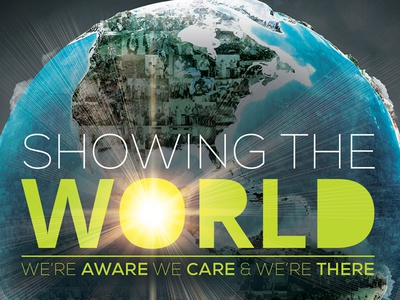 Showing The world campaign branding non profit outreach globe world poster