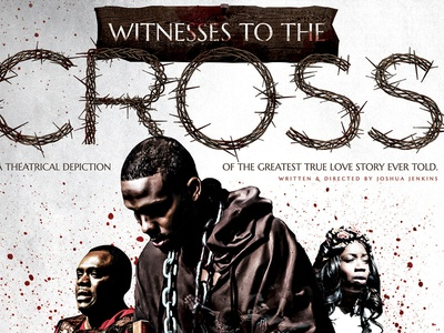 Witness to the Cross: Poster typograhpy holiday blood illustrator poster photoshop cinema 4d church jesus easter