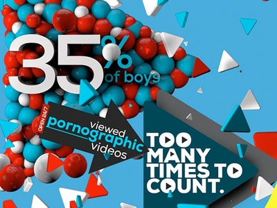 the REALITY of TEENS & PORN: #protectyourteen typography composition 3d stats cinemad 4d poster infor graphic