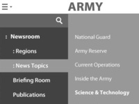 U.S. Army website Redesign Mobile Nav Wireframe Concept ui information architecture wireframe user experience news redesign website government military army responsive