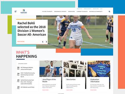 Harford Community College Website Concept ux ui