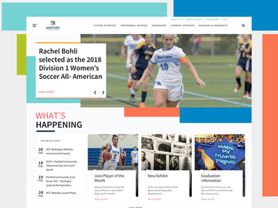 Harford Community College Website Concept ux ui