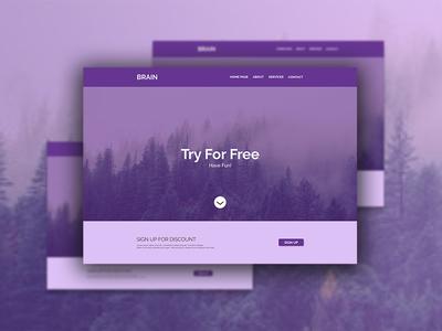 Brain Website Desktop Design