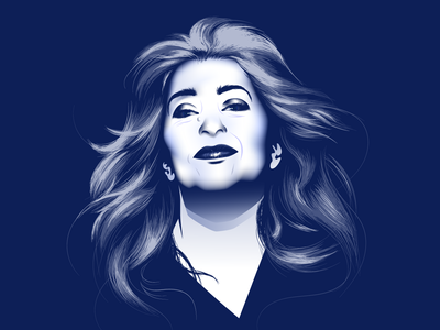 Zaha Hadid vector portrait portrait illustration portrait zaha hadid vector art digital illustration vector illustration vector vector artwork illustration architechture