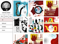 Cristina Spano's website concept