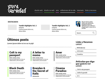Blog design desktop site