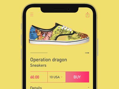 Sneakers mobile e-commerce