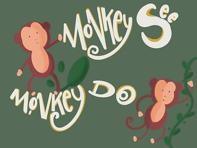 The orangutan animals graphic design illustration typography