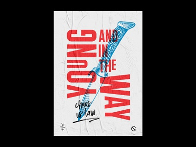 Young and in the Way first post first shot firstshot graphic design graphic music band merch poster design poster bandmerch type typography design vector illustration