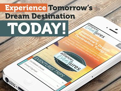 Alliance Eventures branding web site design alliance eventures travel agency logo minimal modern responsive identity