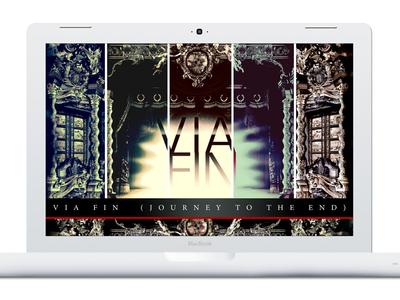 Via Fin branding web site design via fin music composer logo minimal modern responsive identity