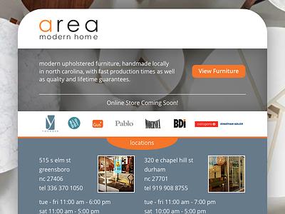 Area Modern Home - Splash Page webdesign web areamod responsive html css greensboro furniture