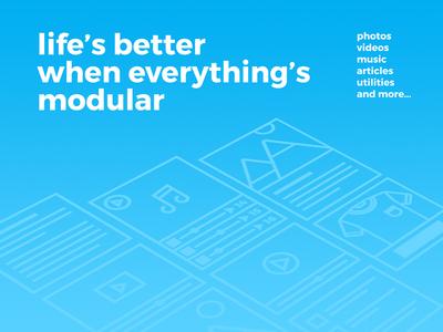 Lifes better when everythings modular modular widgets campaign social webapp ad website app