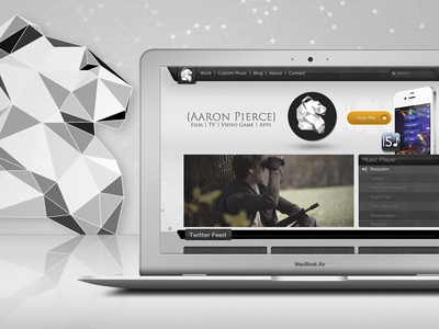{Aaron Pierce} Branding branding web site design aaron pierce music composer logo minimal modern responsive identity