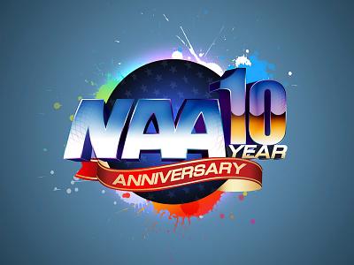 NAA 10 Year Anniversary branding anniversary naa design illustration logo minimal modern identity