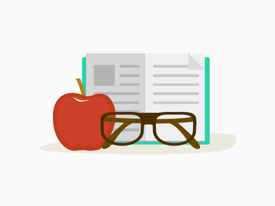 Icon for school apple flat icon flat icon book hipster glass text school education