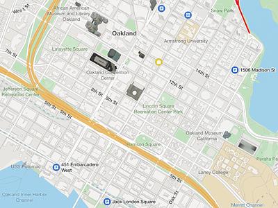 Map screenshot from the sygic mobile SDK sdk screenshot map