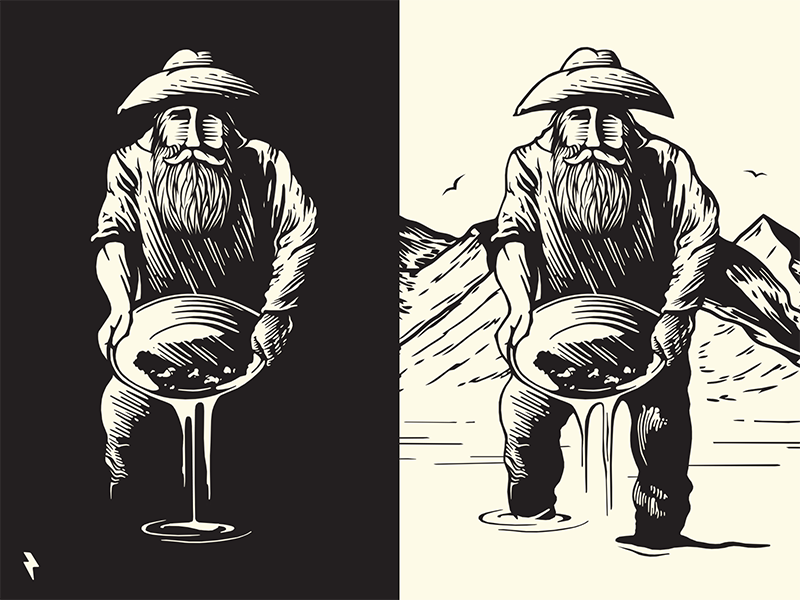 Old Prospector Character Idea By Sergei Hohlov Dribbble Dribbble