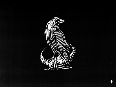Raven horn medieval north blacksmith craft warrior helmet viking crow raven character vintage flat linework logo mark emblem graphic design illustration vector