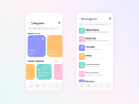 Categories for educational app