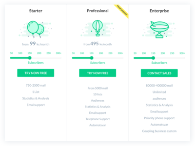 Pricing elements