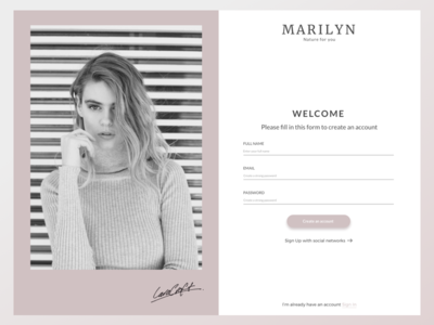 #001 Daily UI  Sign Up form