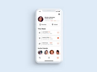 User Profile / Location-Based App