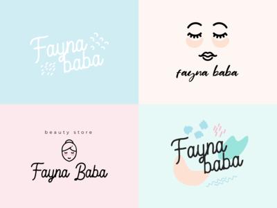 Cosmetics shop logo versions
