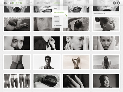 Herb Ritts Foundation gallery photography photographer web design design interface user experience user interface ux ui hrf herbritts