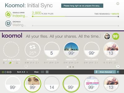 Koomol - Cloud Storage Organizer ux ui design organizer interface storage cloud