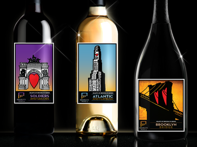 "Brooklyn Wine Co. ""Hearts of Brooklyn"" Series label wine design packaging hearts brooklyn wine label"