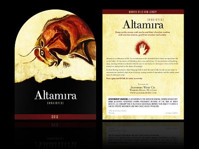 Altamira wine label sangiovese altamira packaging