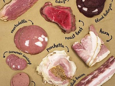 Savenor's Meat Shots butcher shop identity graphic design