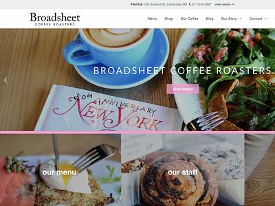Broadsheet Coffee Original Site Design coffee webdesign ui