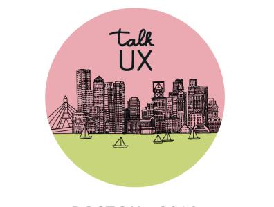 Talk UX Boston 2018 Graphics signage identity graphic design