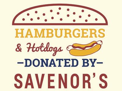 Hamburgers & Hotdogs signage illustration graphic design