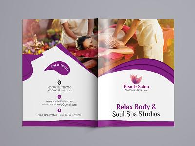 Beauty & Spa Bi-fold Brochure pink parler girly girl fashion catelog brochure beauty a5 a4