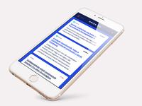 Newsportal design - mobile view