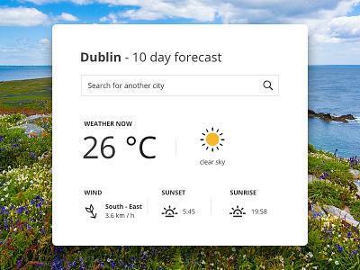 Weather module design webdesign ui ux design