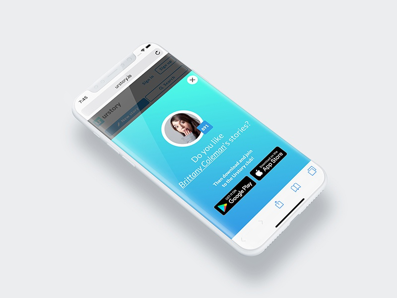 App notification for download the app webdesign ui ux design