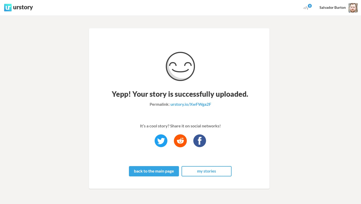 Urstory design success story upload big