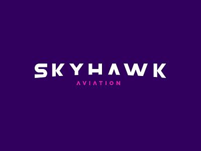 Skyhawk Aviation gif brand logo