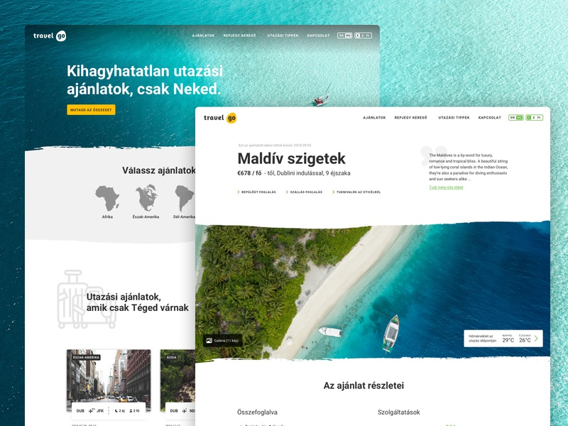 Travelgo - Website design sketchapp design client work ui ux webdevelopment webdesign website