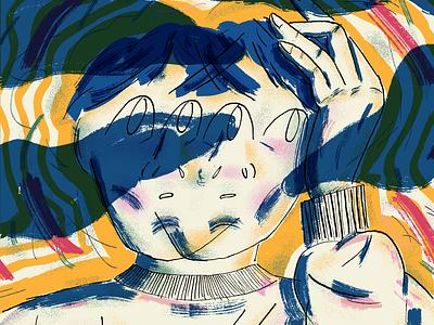 Fuzz art drawing texture illustration